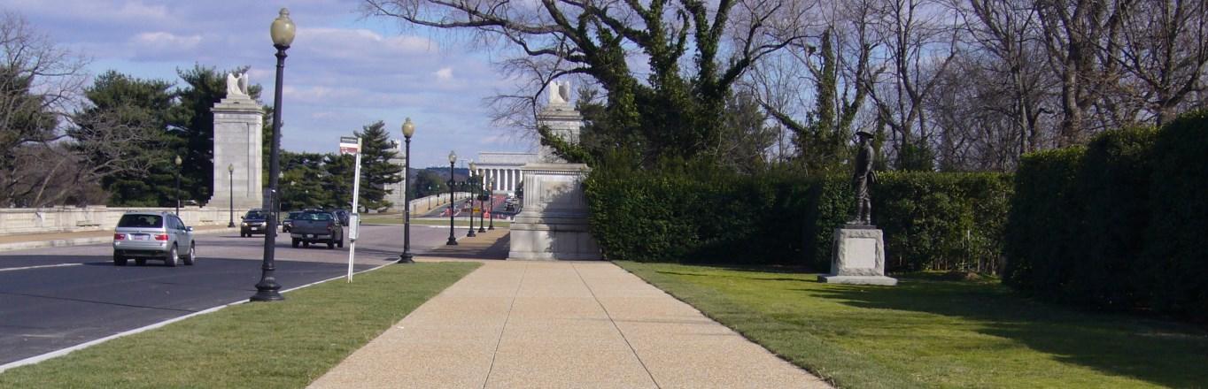 New Sidewalk at the Arlington National Cemetery